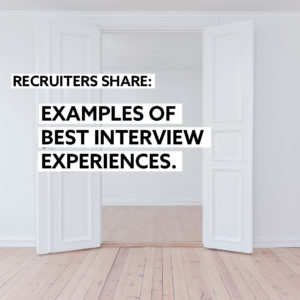 SIGNS THAT YOU'RE INTERVIEWING AN OUTSTANDING CANDIDATE